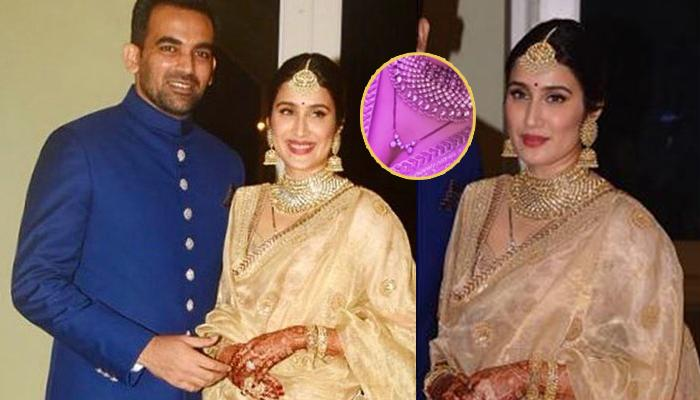 Sagarika Wore Gold Sabyasachi Lehenga On Her Reception But Her 'Mangalsutra' Caught Our Attention