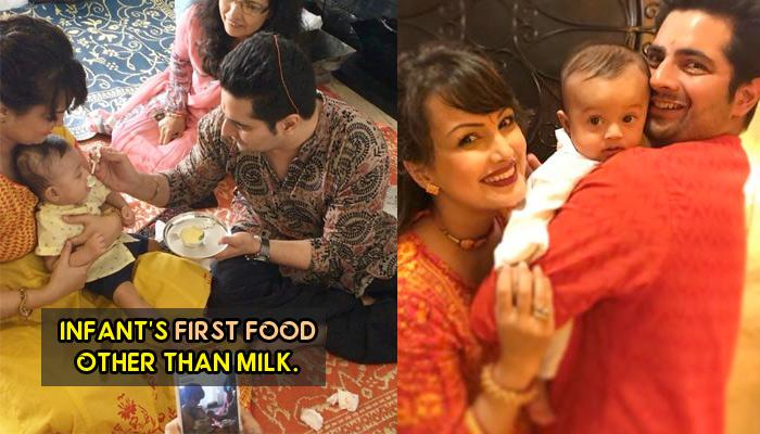Karan And Nisha Gave Baby Kavish His First Food On 'Annaprashan' Ceremony