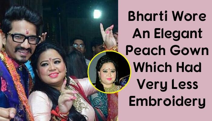 Bharti Wore A Gorgeous Peach-Red Gown On 'Mata Ki Chowki', Her Unique Choker Necklace Stole The Show