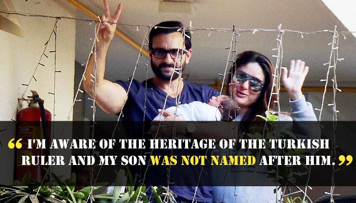 Saif Ali Khan Finally Breaks His Silence On The Controversy Surrounding Taimur's Name
