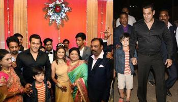Salman Khan Attends The Wedding Of His Driver's Son