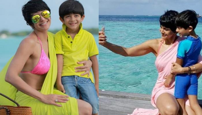 Mandira Bedi Wore 'Bikini-Saree' On Her Beach Vacation To Maldives And We're Yet To Get Over It!