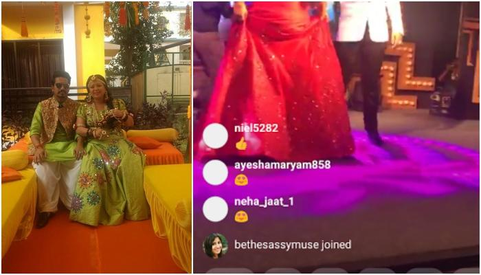 Bharti Is Looking Magically Beautiful On Her Engagement, In A Red Gown And Diamonds