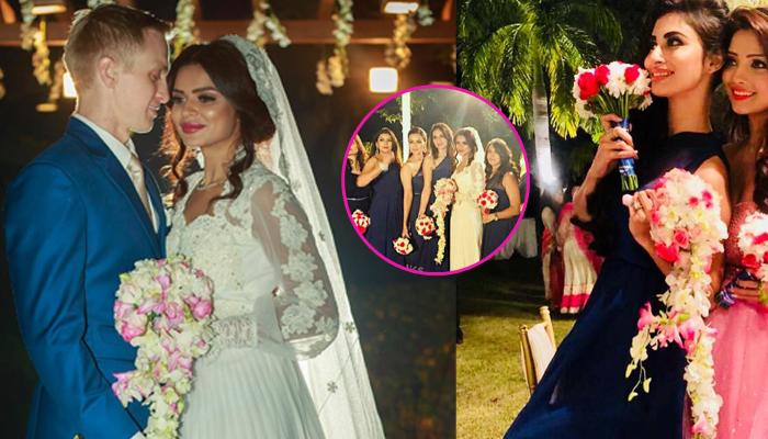 Aashka's Bridesmaids Wore Same Gowns But Maid Of Honor Adaa Khan's Pink Gown Stole The Limelight