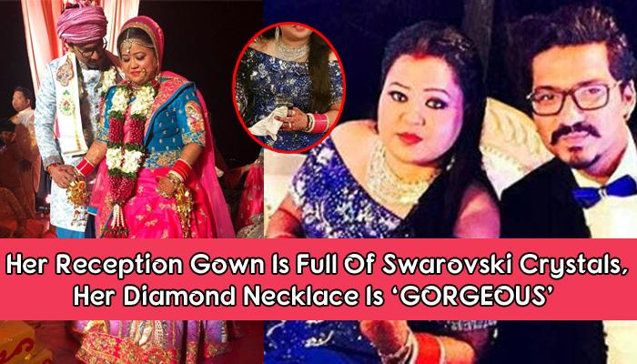 Bharti Looks Like A Doll On Her Reception, Wearing Stunning Blue Gown And Only Diamond