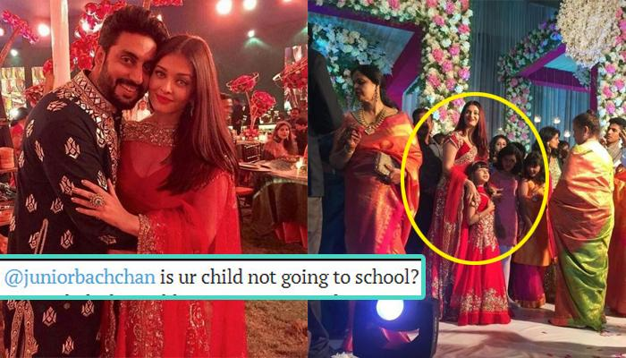 A Twitter User Asked Abhishek If Aaradhya Never Goes To School, His Reply Is Epic