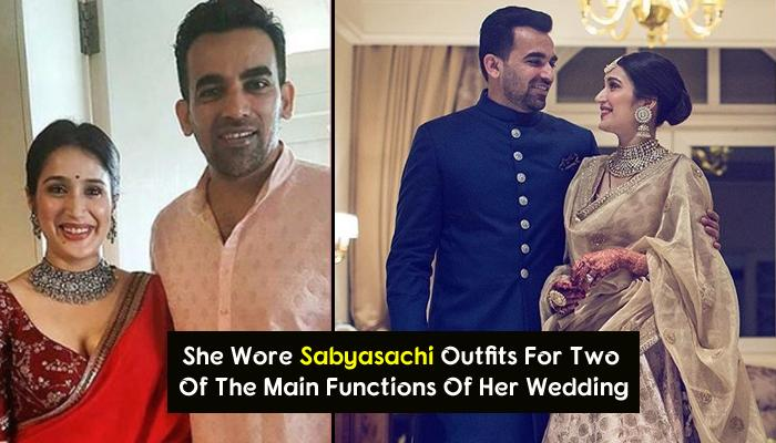 The 'Less Is More' Bridal Looks Of Actress Sagarika Ghatge Is An Inspiration To All Brides-To-Be