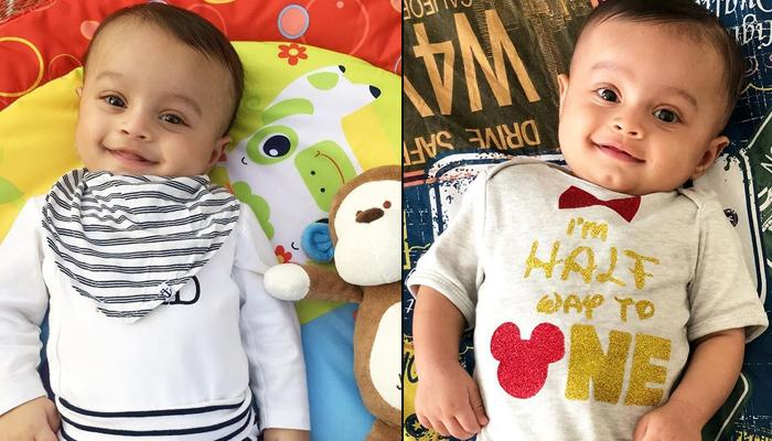 This Newborn Celeb Baby's Parents Dress Him Up As Different Characters And Pictures Are Aww-dorable