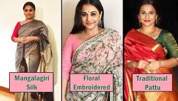 Top 10 Saree Looks Of Vidya Balan That Will Surely Leave You Impressed