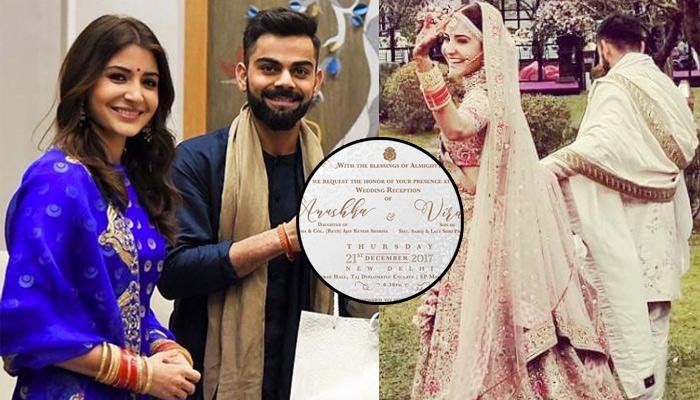 Anushka and virats wedding reception invitation card for reception anushka and virats wedding reception is tomorrow invitation card for reception is out stopboris Gallery