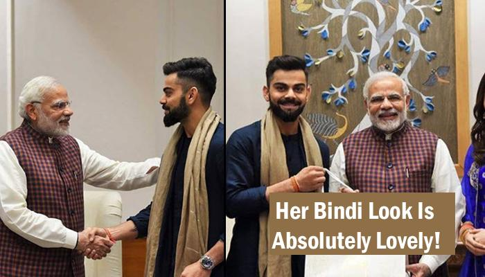 'Nayi Bahu' Anushka Wore A Special Outfit When She Went With Virat To Invite PM Modi For Reception