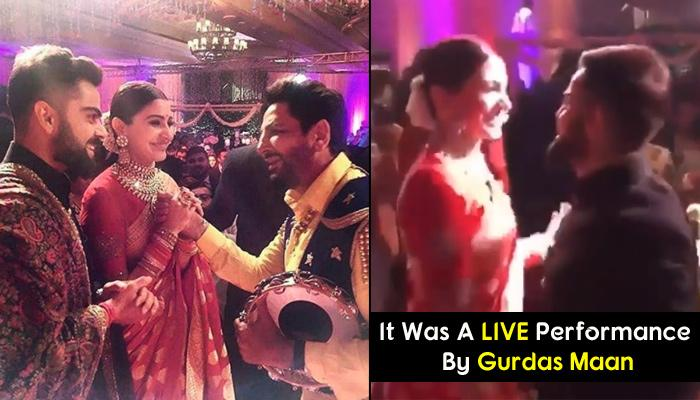 Virat-Anushka Doing Bhangra To Gurdas Maan's Punjabi Beats Put Chaar Chaand To Their Reception