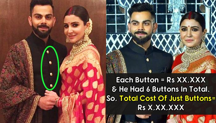 Virat Wore 'Bandhgala' In His Reception, You'll Be Surprised To Know Just The Cost Of Its Buttons!