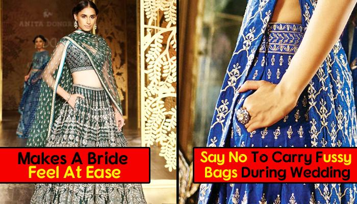 Latest Trend Of Pockets In Bridal Lehenga Is Making Bridal Outfits More Comfortable And Fashionable