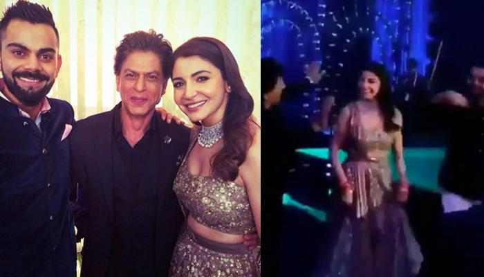 Shah Rukh Steals The Limelight From Virat-Anushka, Dances On Punjabi Beats At Their Mumbai Reception