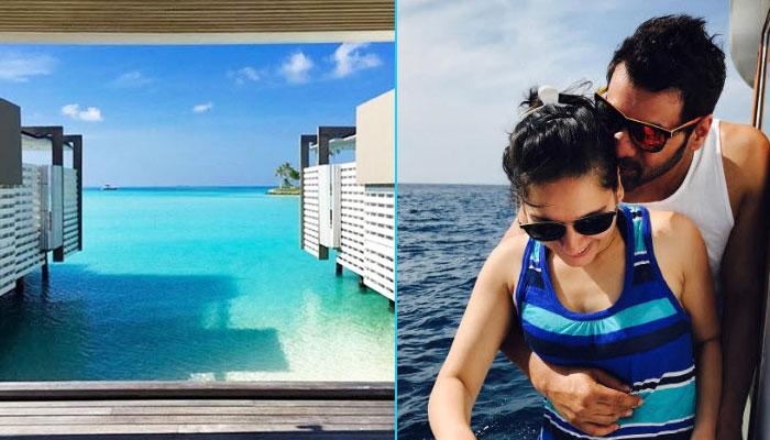 We Are Falling In Love With Shabir Ahluwalia And Kanchi Kaul's Maldives Vacation
