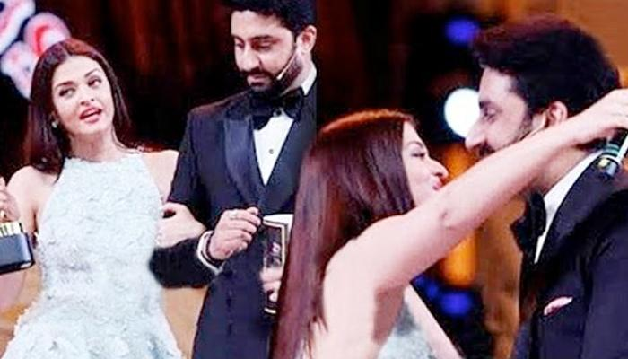 Abhishek's Sweet Gesture For Aishwarya At An Award Function Is What We Call Pure Love