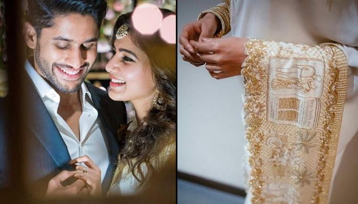 Recently Engaged Samantha Prabhu Got Her Love Story Embroidered On Her Saree