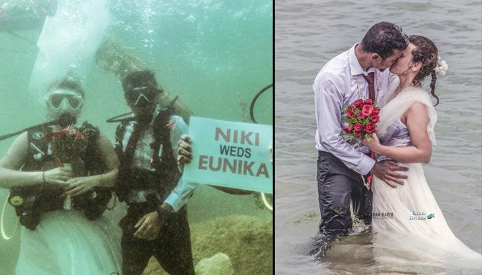 India Witnesses Its First Underwater Wedding And The Images Will Amaze You