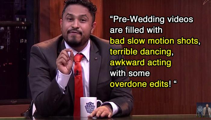 Comedian Abish Mathew Hilariously Explains How Pre-Wedding Videos Are Painfully Awkward