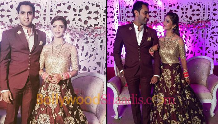 EXCLUSIVE: Newlyweds Pooja Banerjee And Sandeep Sejwal Looked Gorgeous At Their Reception