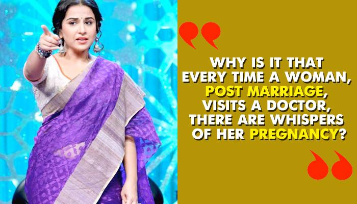 Vidya Balan Slams All Pregnancy Rumours With These Strong Statements