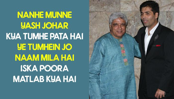 Javed Akhtar Wrote The Most Heart-Touching Poems For Karan Johar's Twins