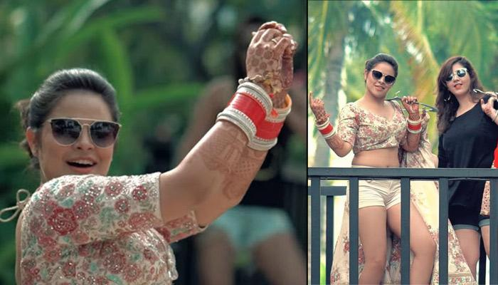 This Desi Bride's Dance On 'Cheap Thrills' In Her Choli And Shorts Is Too Much Fun
