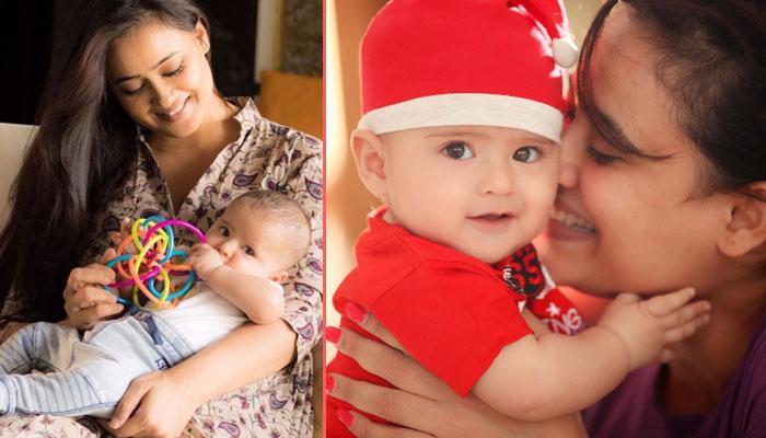 The Adorable Pictures Of Shweta Tiwari's Baby Boy Reyansh Of His Rice Eating Ceremony