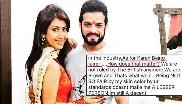 Karan Patel's Wife Ankita Bhargava Slams Trolls Who Abused Her For Her 'Dark' Skin Colour