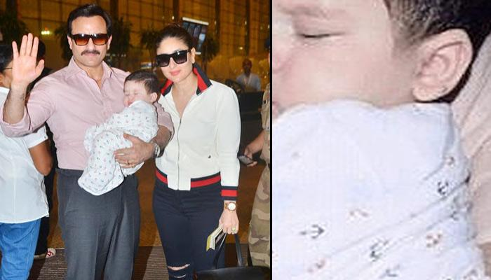 New Pics Of Taimur Sleeping In Daddy Saif's Arms Before Flying To Alps Are Cuteness Personified