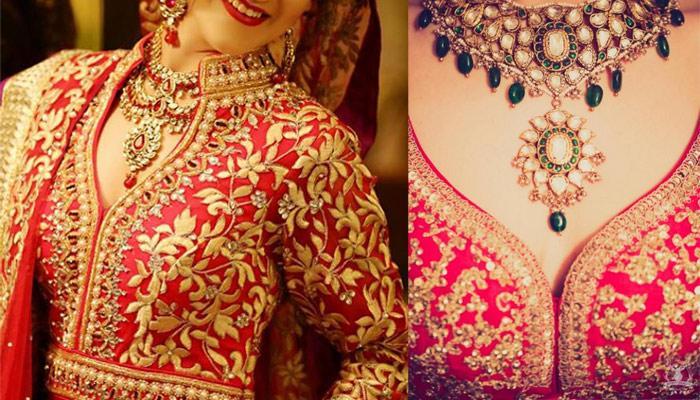 Stunning Blouse Neck Designs That Can Make Bridal Lehenga More Royal And Elegant