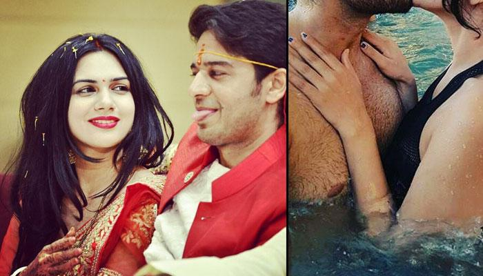 Newlyweds Akanksha Chamola And Gaurav Khanna Celebrated This Special Occasion With A Kiss