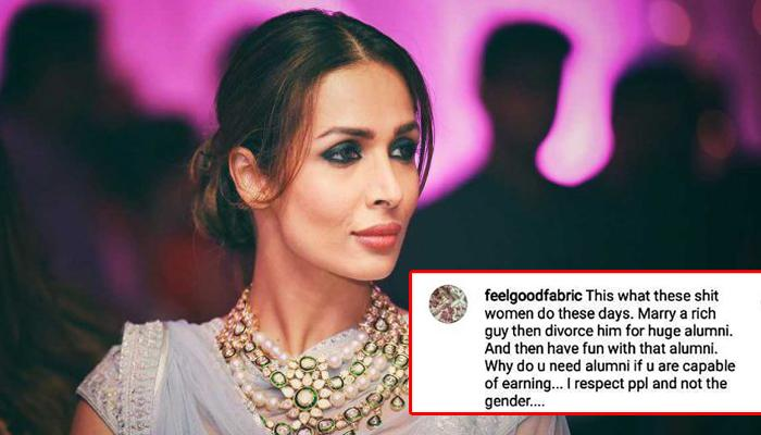 Malaika Arora Gave A Perfect Reply To A Man Who Accused Her Of Being A Gold Digger