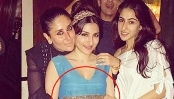 Kareena Kapoor Holding Soha's Baby Bump Stole Birthday Boy Saif's Thunder