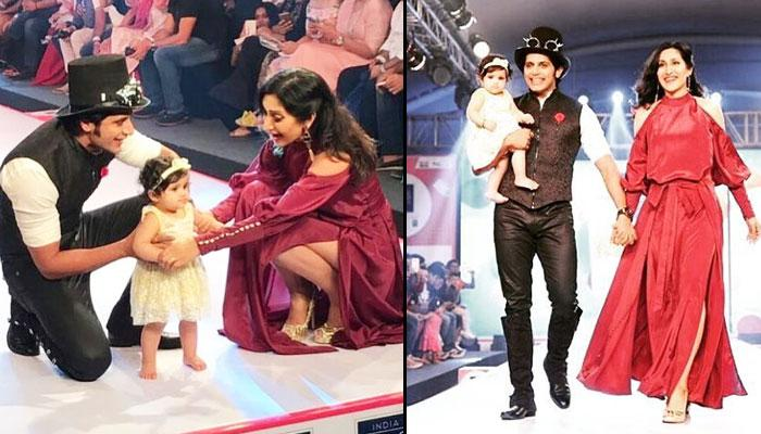 TV Couple Karanvir-Teejay's 10-Month-Old Baby Vienna Walks The Ramp With So Much Confidence