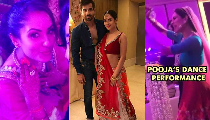 Kunal Verma And Puja Bannerjee Get Engaged; Puja's Red And Blue Lehenga Stole The Show
