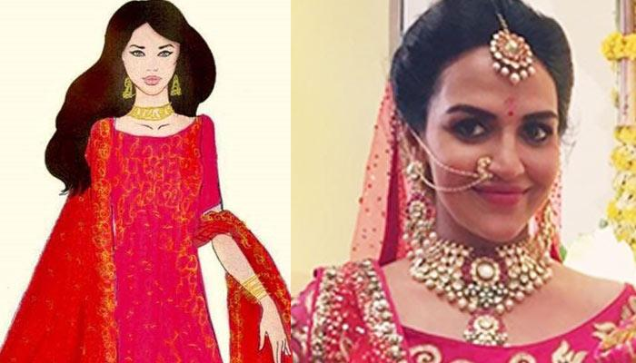 IN PICS: Esha Deol Looked Resplendent In Red Anarkali On Her 'Godh Bharai'