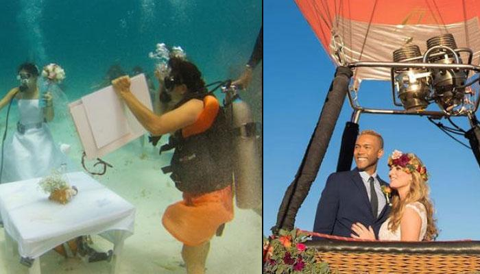10 Super-Crazy And Adventurous Ways For All Couples To Tie The Knot