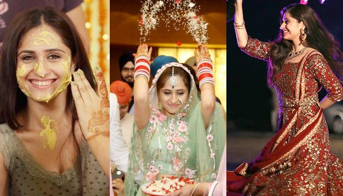 Hunar Hale Had A Big Fat Gurudwara Wedding: Decoding Her Bridal Looks From Each Wedding Function