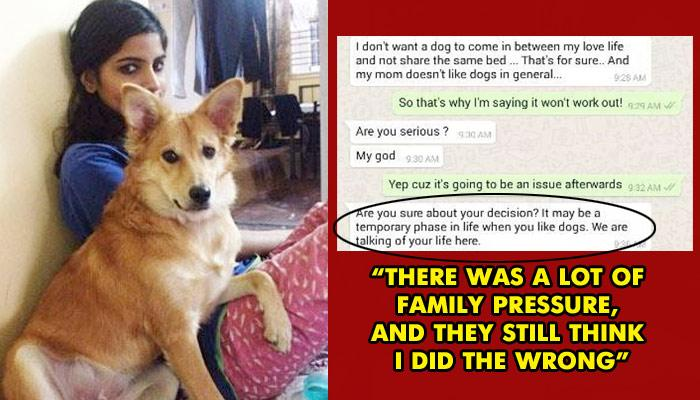 A Girl Rejected A Guy Because He Disliked Her Dog And Didn't