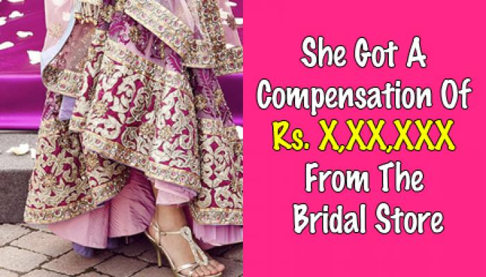 Bridal Studio Messed Up With The Bride's Lehenga, And She Fought For 8 Years Against Them