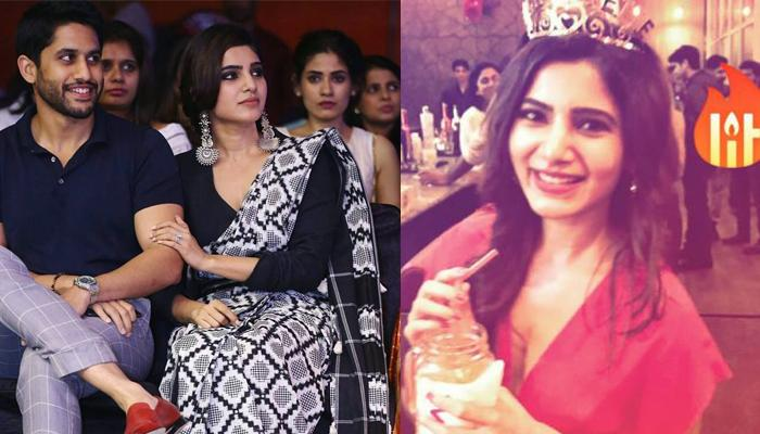 We Can't Take Our Eyes Off From Samantha's Red Dress From Her Pre-Wedding Bash