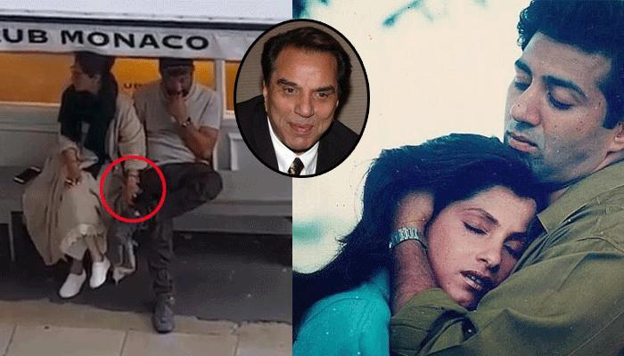 Interestingly, Dharmendra Likes The Ex-Lovers Dimple Kapadia And Sunny Deol's Viral Video