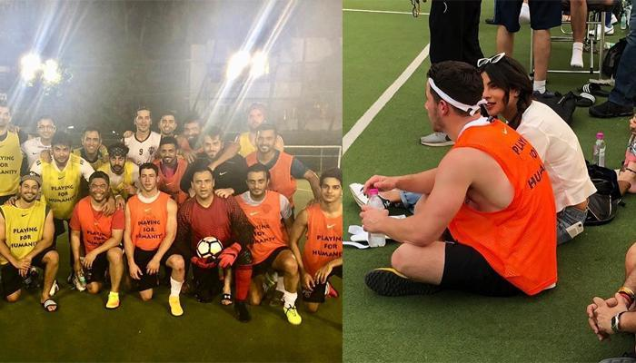 Priyanka Chopra Cheers For 'Bae' Nick Jonas While He Plays Football With Bollywood Celebrities