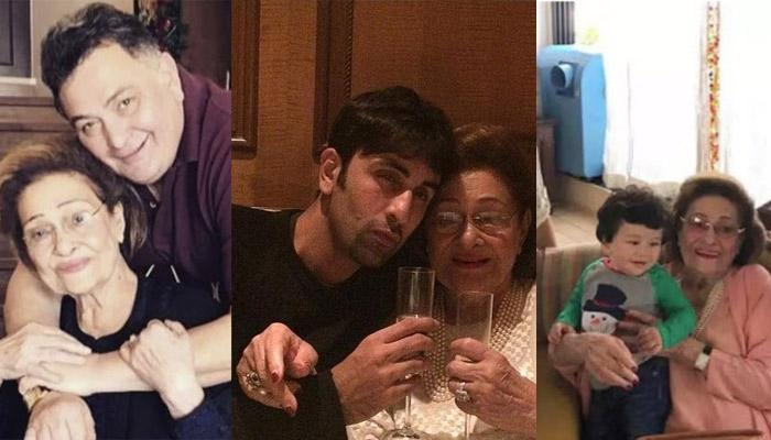 Krishna Raj Kapoor's Unseen And Rare Pictures With Children, Grand Children And Great Grand Children