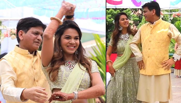 Real Bride Anushree Choudhary Dancing On 'Abhi Na Jao Chod Kar' With Her Dad Is A Priceless Moment