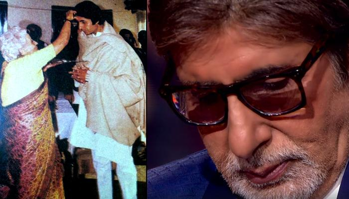 Amitabh Bachchan Gets Emotional After Hearing An Audio Clip Of Late Mother Teji Bachchan On KBC Sets