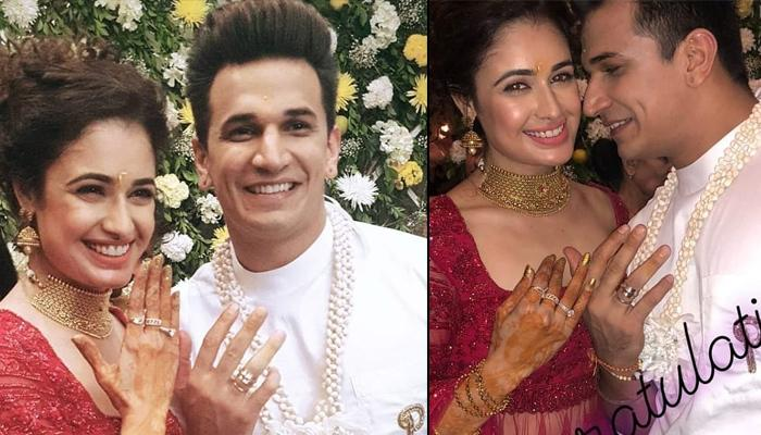 Prince Narula And Yuvika Chaudhary's Engagement Was A Fairytale, Looked Ethereal In Royal Outfits
