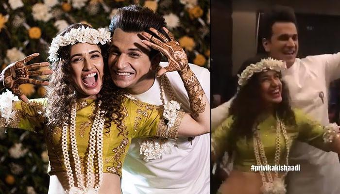 Prince Narula And Yuvika Chaudhary Dance On Dhol Beats At Their Mehendi Ceremony, Videos Inside
